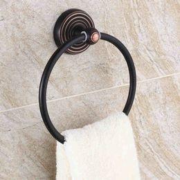 Wholesale Square towel rings oil rubbed bronze towel holdertowel rack black kitchen bathroom accessories shower fittings