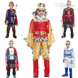 Wholesale-kids king costumes  king cosplay costumes for boys  boy performance clothing  children kigurumi cosplay costumes NINE--PIECE