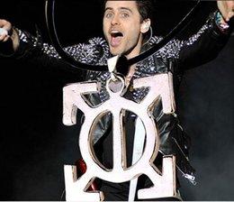 Wholesale Argent alloy Seconds To Mars STM Rock Band celebrity logo Symbol Totem arrows pendant necklace men fashion Hot x038