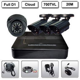 4CH Surveillance CCTV DVR Video Recorder 700TVL Camera System
