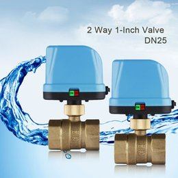 Wholesale High Quality Way Brass DN25 G1 quot V Motorized Electric Actuator Valve MPa Ball Valve for Water Control System
