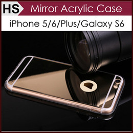 Wholesale Drop Shipping Luxury Acrylic Mirror TPU Bumper Case For iPhone S SE S Plus GALAXY S6 S7 Edge NOTE Dustproof Protective Cover