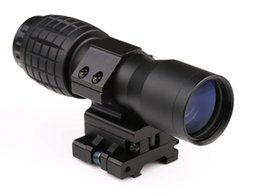Funpowerland High quality 4X Magnifier With FTS Flip to Side Mount for Scopes Sights Free Shipping