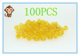 100PCS Soft Yellow Color T Type Tattoo Needle Pad Grommet For Needle Machine Supply Free Shipping