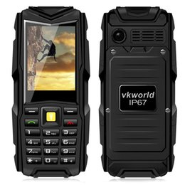 Wholesale VKworld Stone V3 mAh Battery Power Bank Supoer Strong Flash Light IP67 Waterproof G GSM Unlocked Dual Sim Card MP Camera Cell Phone