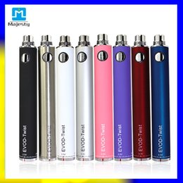 Cheapest Hot Battery EVOD Twist Battery in Rainbow colors 1300mAh hight capacity for 510 RDA atomizer