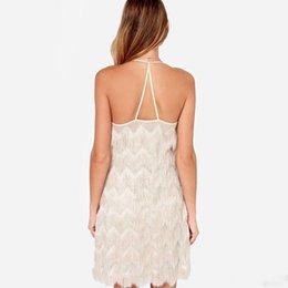 2016 summer style V-neck backless tassel women dress Plus size Sexy Summer dress off shoulder strap vestidos Party dress ZJ1541