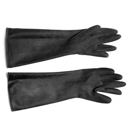 Wholesale Hot Sale Security Safely Pair A Set Emulsion Chemical Resistance Industry Elbow Long Rubber Gloves Acid Chemical Midoni