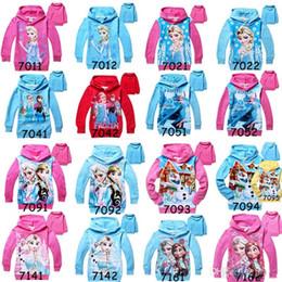 Promotion manteau pull à manches Frozen fille Anna Elsa Princesse Enfants Hoodies Pull 2,014 Manteau enfants Automne coton à manches longues à capuche pour enfants