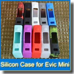 Evic vtc en venta-Funda de Silicona Funda Protectora de Silica Gel para EVIC VTC Mini Caja Mod Nuevo Silicio Funda Funda Funda de Caucho Colorida