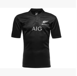 Wholesale New Zealand All Blacks Rugby Jersey Shirt Season All Blacks Mens Rugby Football Jersey Size S XXL best quality