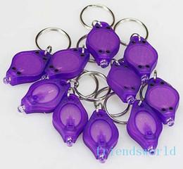 395-410nm Purple UV LED Keychain Money Detector led light protable light Keychains Car key accessories