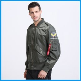 Wholesale Fall Summer autumn lightweight thin Alpha Industries flight plain bomber jacket ma1 men ma air force jacket