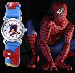 2015 relojes Child Cartoon Watches Fashion Spider man boy Watch High Quality Girls Wristwatch Hot Sale Cute Jelly Colorful Clock