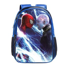 Wholesale Robbie king new fashion Spiderman cartoon children kindergarten picture quality shoulders backpack bag
