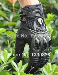 Wholesale-SCOYCO MX40 MOTO racing gloves Motorcycle  advanced protective  moto off-road motorbike gloves blue black red color