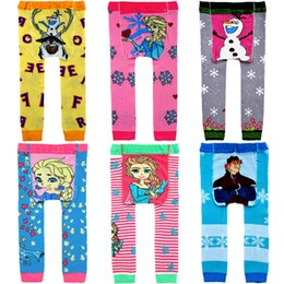 Wholesale Baby Frozen pantyhose Busha Crochet PP pants Children christmas leggings cartoon Tights baby clothes designer colors