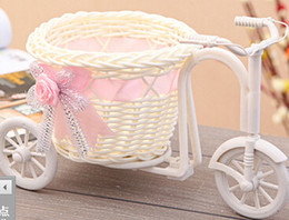 Wholesale high grade rattan vase basket tricycle decorations Home Furnishing props photography