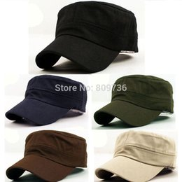 Wholesale 1PC Classic Women Men Snapback Caps Vintage Army Hat Cadet Military Patrol Cap Adjustable Outdoors Baseball Unisex Hats Hot