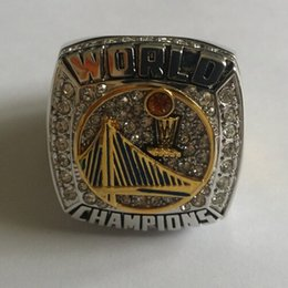 Wholesale 2015 New Arrival Amazing Basketball World Series Championship Rings With black Velvet Ring Box And