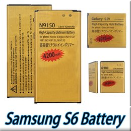 Wholesale Gold Label Best Quality Replacement Battery For Galaxy S6 S6 edge Li ion Bullit in Internal Battery Full Capacity charge Tested Battery