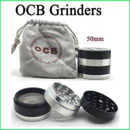 Wholesale Top Quality OCB Grinders Layer Herbal Grinders Aluminium Alloy Grinder mm Metal Grinders VS Sharpstone Grinders Herb Grinders Free DHL
