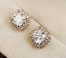 wonderful diamond l square lady's earings (10*10 mm) (nnsssp)