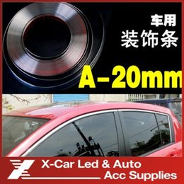 Wholesale 20mmX15m Car Chrome Styling Moulding Trim Strip Auto Body Window Exterior Decoration Car Accessories Tool Freeshipping