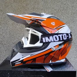 Wholesale 2015 Newest DOT certification KTM OFF Road motorcycle helmet Motorcross motorbike helmets Orange white color made of ABS size M L XL XXL