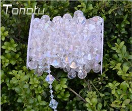 Wholesale 33ft Wedding curtain sharp corner acrylic Crystal Curtain Transparent wire bead Wedding strings for Wedding Decorations new style
