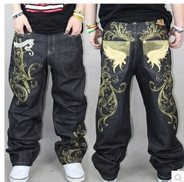 Hip hop dance jeans denim plus-size board shorts leisure loose men jeans