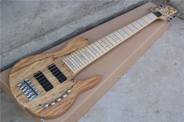 The Customzied 6-String Electric Bass with Original Body and Neck-thru-body Design and Can be Changed as Request