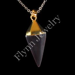 Charm Clear Rock Crystal Hexagon Pyramid Natural Stone Chakra Healing Pendulum Pendant Accessories European Jewelry 10Pcs