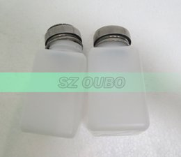 Wholesale 200ml bottle Liquid Alcohol Press Nail Polish Remover Dispenser Cleaner Pumping Bottle Dispensing Pump Bottle