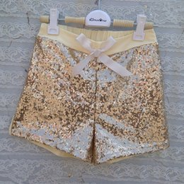 Gold Sequins Girls Short ,Baby Sequins Short ,Summer Girls Short With Sequins Birthday gift Legging 5pcs lot