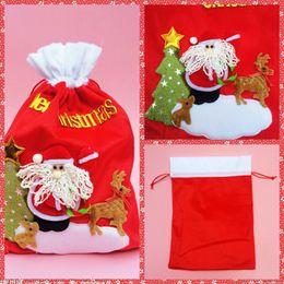 Wholesale Cheap Sale Online Christmas Souvenir Bags Festival Party Supplies Xmas Eve Bags Santa Claus Bag Gift Candy Bags Gift Package