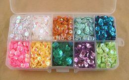 5mm colores de la mezcla de copos de lentejuelas para la decoración de la boda decortation casa y ropa de accesorios (1 caja del pvc / lot) desde escama de lentejuelas proveedores