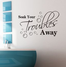 Wholesale 2015 Home Decor Wall Sticker for Home Characters Soak you truobles away piece a cm cm PVC