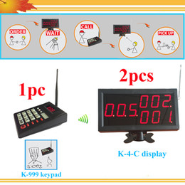 Wholesale Queue call display system take a number machine LED queue calling system one keypad for chef and display receiver for customer