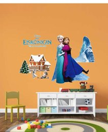 Wholesale 150pcs ANNA olaf Frozen Children Wall Stickers Olaf Decorative Wall Decal Cartoon Wallpaper Kids Decoration Christmas Wall Art New t66