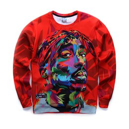 2016 New Men Sweatshirts 3D Harajuku 2Pac Tupac Biggie American gangster Rap Hoodies TUPAC SHAKUR CREWNECK Sweats Pullover Tops