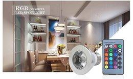 Wholesale LED RGB Bulb Pedestal E27 GU10 E14 MR16 GU5 V V LED Bulb Multi color Adjustment With Key Remote Control