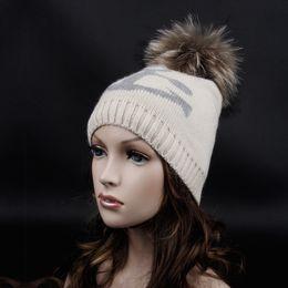 Wholesale-Free shipping 2015 Hot Sale Fashion Anchors wool hat cap.15cm Fur pompom Cashmere blended hat.women&men
