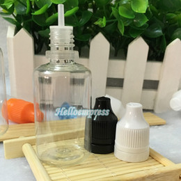 PET Empty Bottle 30ml Plastic Dropper tamper Bottles with Long and Thin Tips Tamper Proof Caps E Liquid 1OZ Needle Bottle DHL Shipping
