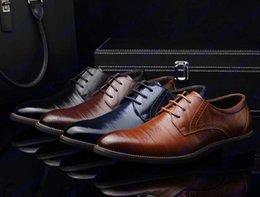 Wholesale Hot Sale Fashion High Quality Genuine Leather Shoes Men Lace Up Business Men Shoes Men Dress Shoes