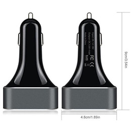 Wholesale In business Multi port fast charge car charger v A car charger intelligent recognition aluminum bottom strip LED work light