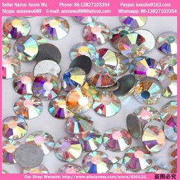 Wholesale Super Shiny AB Crystal Bag Swarovski Nail Art Crystals Rhinestones Decoration for Nails