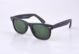 Wholesale HOT seal Matte Black sunglasses mens sun glasses glass Lens Plank sunglasses High Quality womens glasses UV protection eyeglass mm