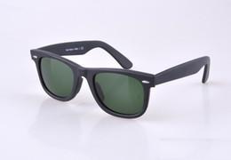 Wholesale HOT seal Matte Black sunglasses mens sun glasses glass Lens Plank sunglasses High Quality womens glasses UV protection eyeglass mm