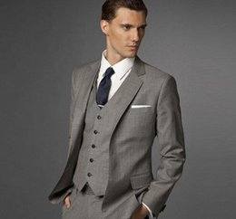 Wholesale http www dhresource com albu_858697969_00 x0 Suits Side Slit Grey Groom Tuxedos Notch Lapel Groomsmen Men We